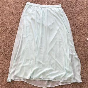 Mint Old Navy Maxi Skirt